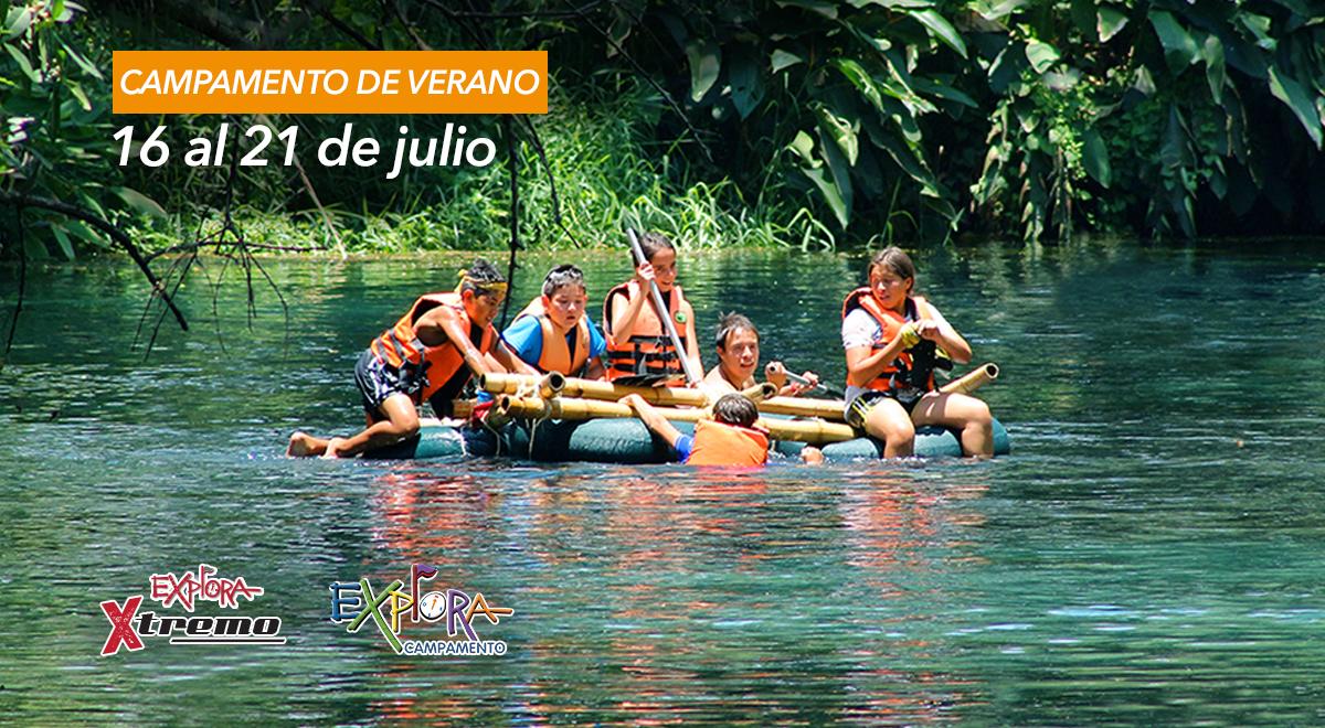 Compra en línea campamento de verano Explora en Las Estacas, del 16 al 21 de julio, 2018.