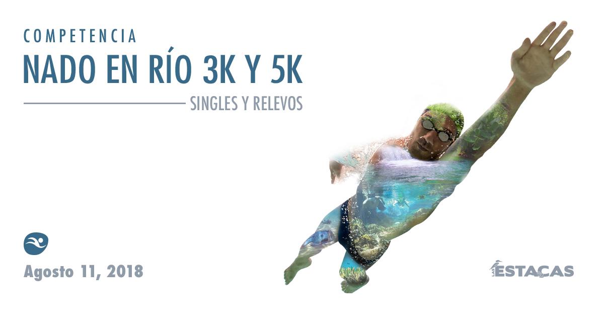 Compra en línea boletos para Nado en Río 3K y 5K en Las Estacas, 11 de agosto.
