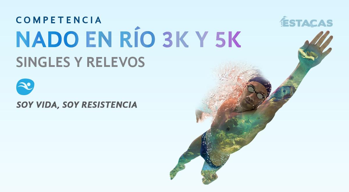 Competencia de natación en Las Estacas Nado en Río 3K y 5K